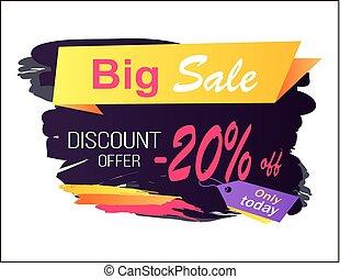 Big Sale Discount Offer -20 Vector Illustration
