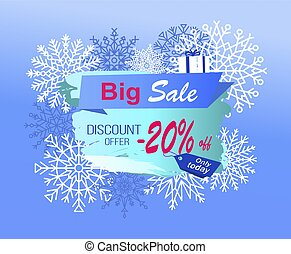 Big Sale Discount Offer Only Today -20 Off Vector