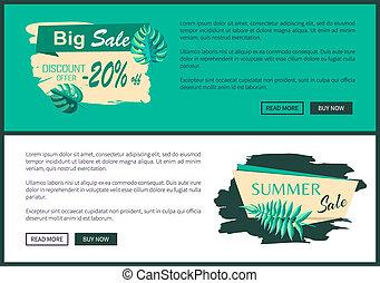Big Sale Discount Offer Summer Sale Web Poster Set