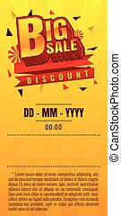 Big sale. discount. vector illustration. Sale banner