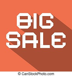 Big Sale Flat Design Vector Illustration on Red Background