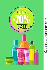 Big Sale for Soft Lotions and Creams Promo Poster - Big sale...
