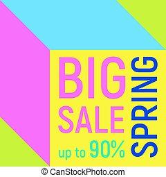 Big sale geometric background, memphis style