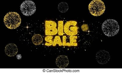 Big Sale Golden Text Blinking Particles with Golden...