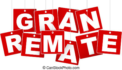 Big Sale / Gran Remate Spanish Sign - White Letters on Red Background