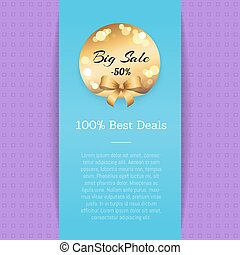 Big Sale Half Price 100 Best Deals Vector Poster