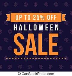 Big sale Halloween on blue background