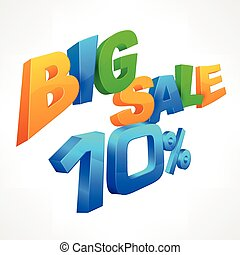 Big sale inscription 10