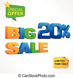 Big sale inscription 20
