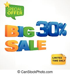 Big sale inscription 30