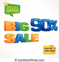 Big sale inscription 90