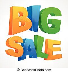 Big sale inscription