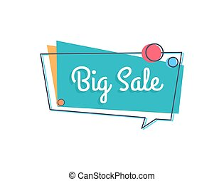 Big Sale Inscription in Speech Bubble with Circles