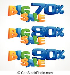 Big sale inscription percent