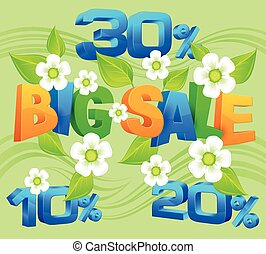 Big sale inscription spring