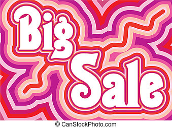 Big Sale inscription, vector illustration