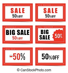 big sale label set design illustration