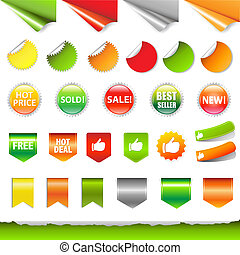 Big Sale Label Set, Isolated On White Background, Vector...