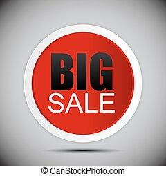 Big Sale Label Vector Illustration