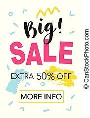 Big Sale. Mobile banner template