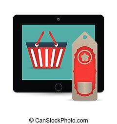 big sale online technology tablet tag price basket
