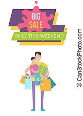 Big Sale Only This Weekend Vector Illustration