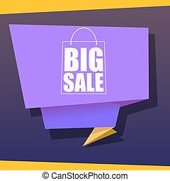 Big sale origami banner.