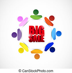 Big sale people business sign