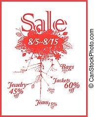 big sale poster template design