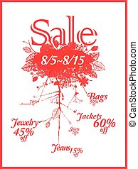 big sale poster template design