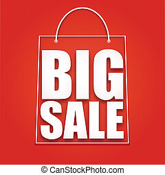 Big sale poster,  vector illustration