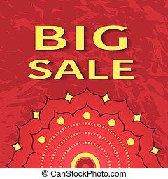 Big sale poster, vector illustration for your design