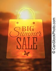 Big sale poster with different element.