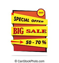 Big sale price offer deal vector  designs with flame . Vector illustration