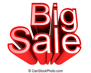 Big Sale promotion sign isolated 3d illustration - Big Sale ...