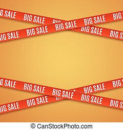 Big sale red banners.