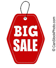Big sale red leather label or price tag