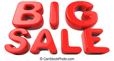 Big sale red letters