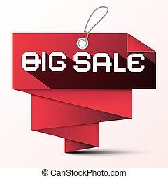 Big Sale Red Paper Label