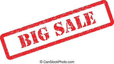 big sale red stamp on background