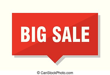 big sale red tag