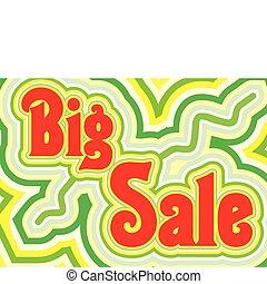 Big Sale retro title, vector illustration