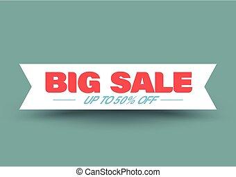 Big sale ribbon banner