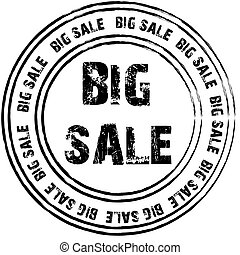Big sale rubber stamp.