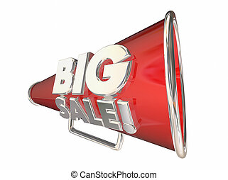 Big Sale Save Money Megaphone Bullhorn 3d Animation