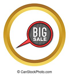 Big sale sign icon