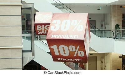 Big sale sign on the cube