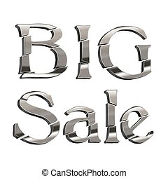 big sale silver icon on white background. vector design