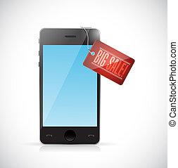 big sale smartphone tag illustration