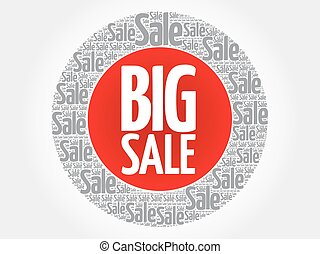 BIG SALE stamp words cloud